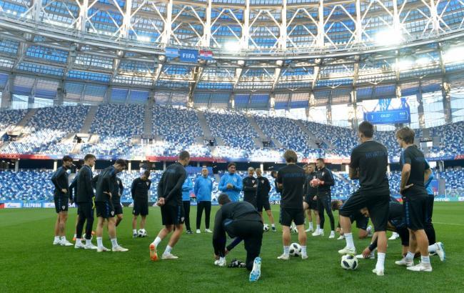 Фото: сборная Хорватии готовится к матчу с Аргентиной (twitter.com/HNS_CFF)