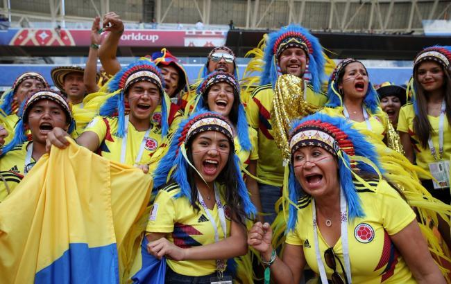 Фото: Польша - Колумбия (twitter.com/FCFSeleccionCol)
