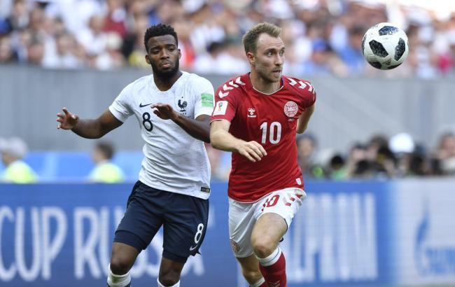 Сборные Франции и Дании сыграли вничью и вышли в 1/8 финала ЧМ-2018