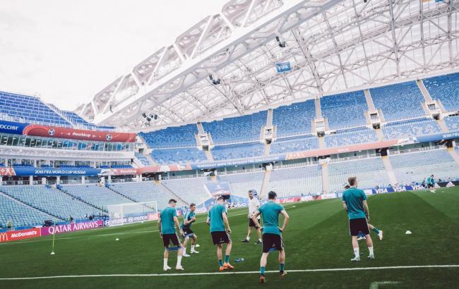 Фото: тренировки сборной Германии перед матчем со Швецией (twitter.com/DFB_Team)