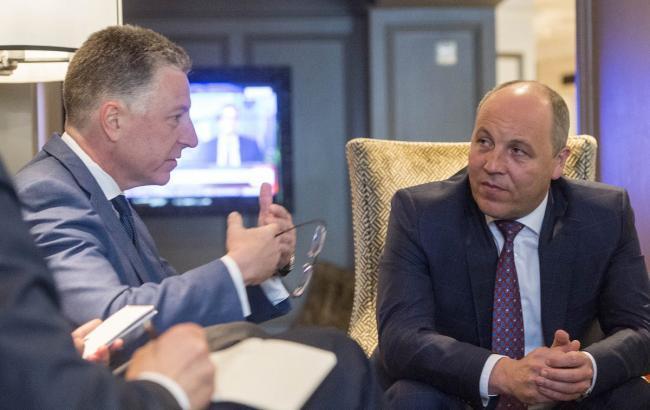 Парубій обговорив з Волкером ситуацію на Донбасі
