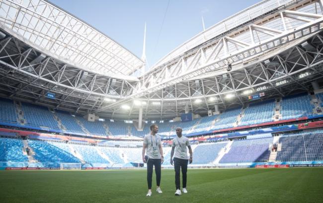 """Фото: стадион """"Санкт-Петербург"""", где состоится матч Бельгия - Англия (twitter.com/England)"""
