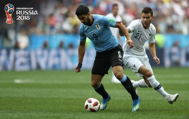 ЧМ-2018: Франция одолела Уругвай и первой вышла в 1/2 финала