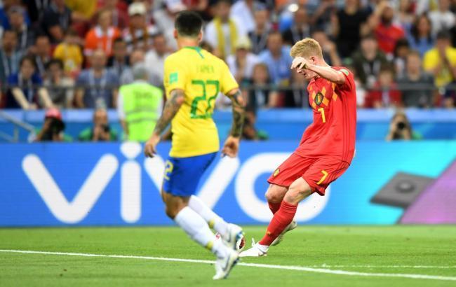 Фото: Бразилия - Бельгия (twitter.com/cbf_futebol)
