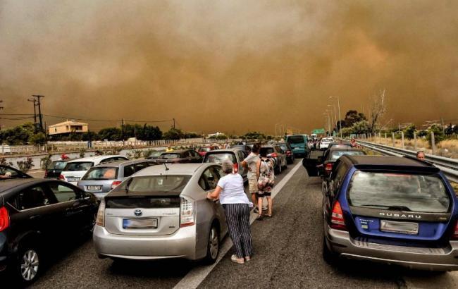 Пожежі у Греції: поліція затримала підозрюваного у підпалах лісу