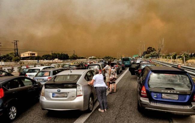 Пожежі в Греції: число жертв зросло до 96