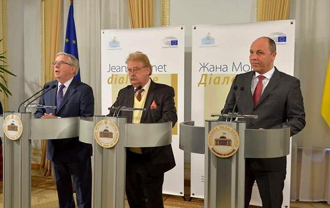 Два дня переговоров о будущем Рады завершились совместной пресс-конференцией (фото - rada.gov.ua)