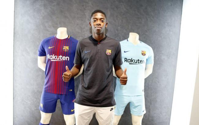 Усман Дембеле подписал договор с«Барселоной»