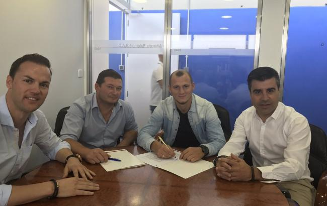 "Фото: Зозуля підписав контракт з ""Альбасете"" (albacetebalompie.es)"