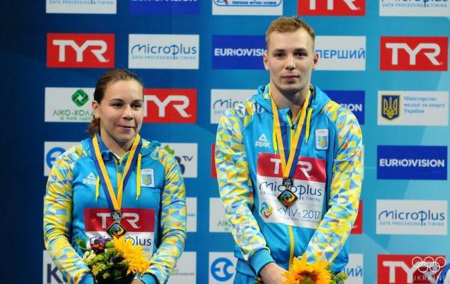 Фото: Виктория Кесарь и Станислав Олиферчик (twitter.com/olympicua)