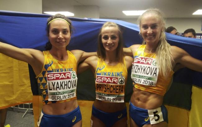 Фото: Ольга Ляхова, Наталья Прищепа и Анна Рыжикова (twitter.com/OlympicUA)
