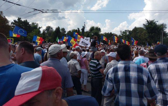 Фото: протест у Молдові(twitter.com/NadejdaH)