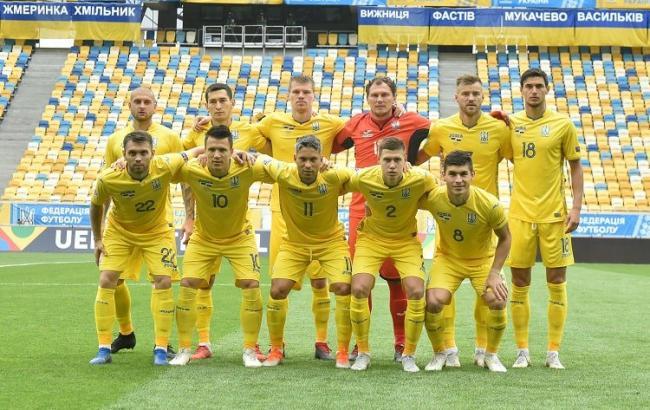 Фото: игроки сборной Укрианы (ffu.ua/Павло Кубанов)