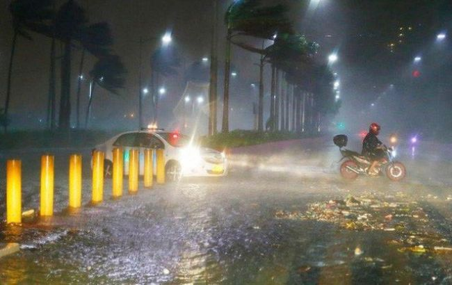 Тайфун привел к первым жертвам на Филиппинах