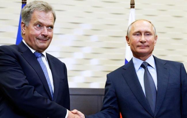 Фото: Саули Ниинисте и Путин (twitter.com/pravda24)