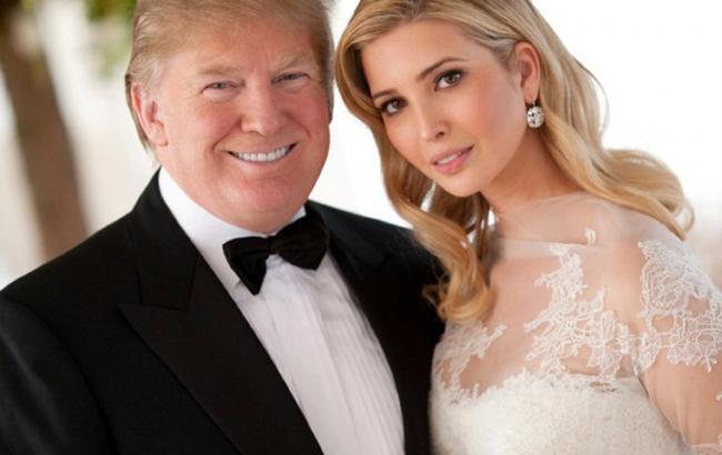 Фото: Дональд Трамп с дочерью