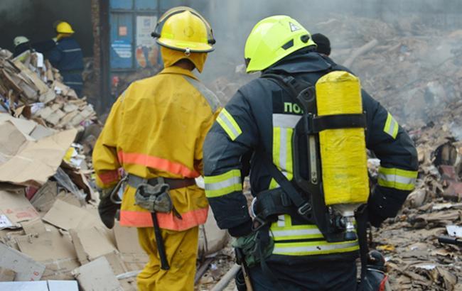 Фото: ліквідація пожежі (dp.dsns.gov.ua)