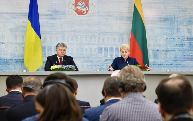 Фото: зустріч Порошенко і Грібаускайтє (twitter.com/poroshenko)