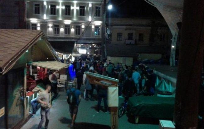 Массовая драка вцентре Одессы