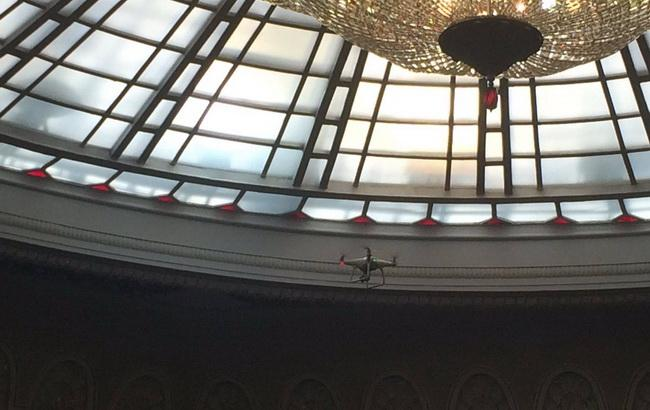 """Фото: безпілотник запущено для боротьби із """"кнопкодавством"""" (Twitter @bpp_solydarnist)"""
