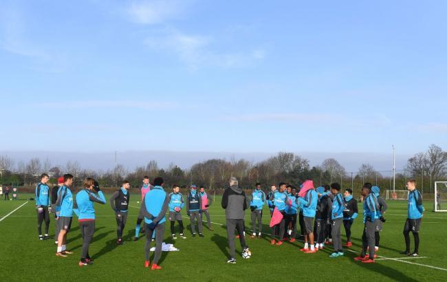 """Фото: тренировка """"Арсенала"""" (twitter.com/Arsenal)"""
