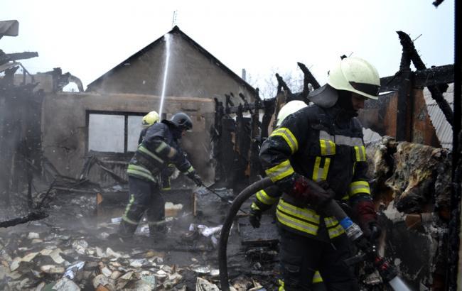 Фото: ликвидация пожара (ГСЧС)