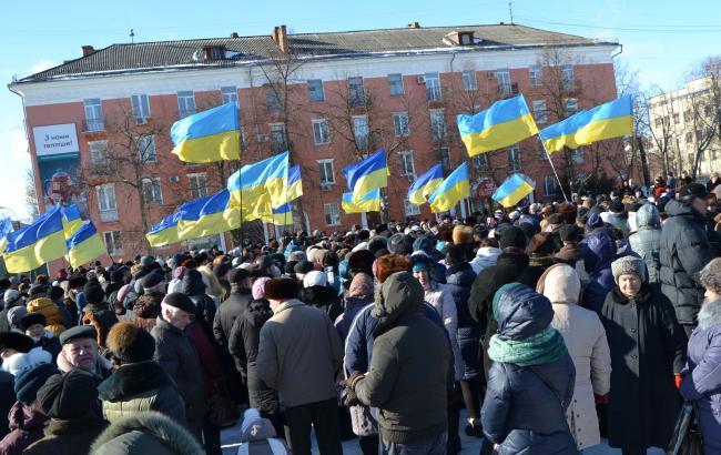 Фото: акция протеста и Белой Церкви 15 февраля