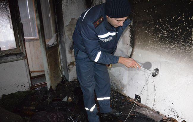 Фото: последствия пожара в Николаеве (пресс-центр ГСЧС)