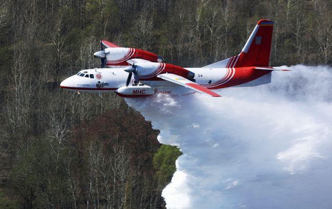 Фото: пожежний літак ДСНС (dsns.gov.ua)