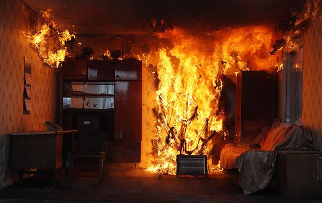 Фото: пожар в квартире  (dsns.gov.ua)