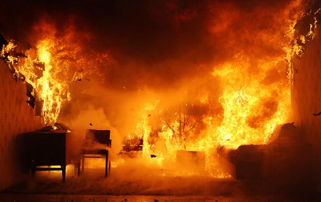 Фото пожара (dsns.gov.ua)