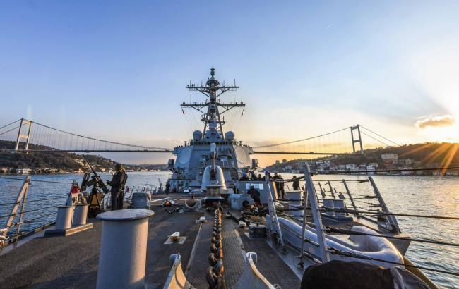 Фото: эсминец флота США (twitter.com/USNavyEurope)