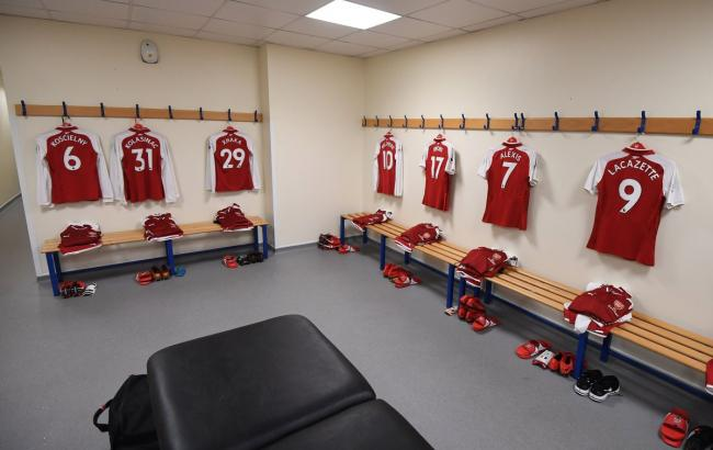"""Фото: раздевалка """"Арсенала"""" (twitter.com/Arsenal)"""