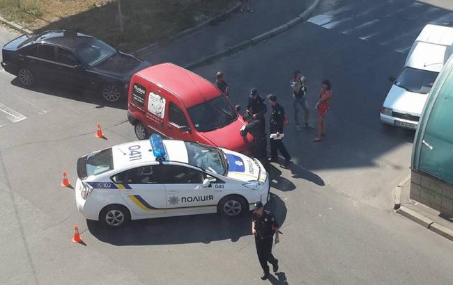 У Києві патрульна машина потрапила в ДТП