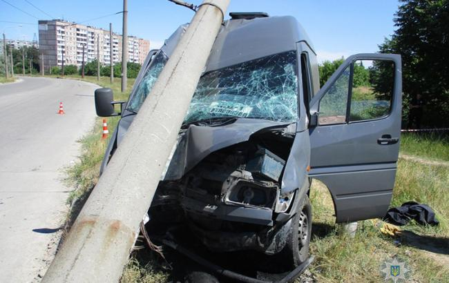 Фото: наслідки аварії (zp.npu.gov.ua)