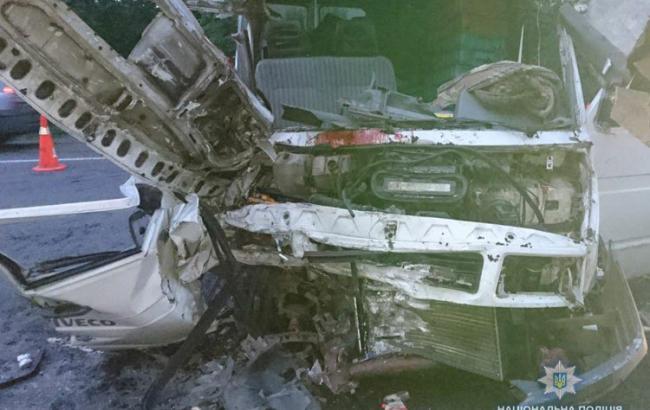 Фото: последствия столкновения (npu.gov.ua)