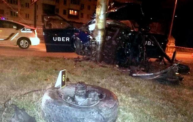 Фото: авария такси Uber (kyiv.npu.gov.ua)