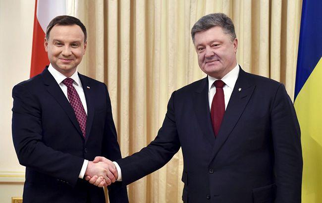 Дуда постарался убедить Порошенко и Украину в самых дружеских намерениях Польши