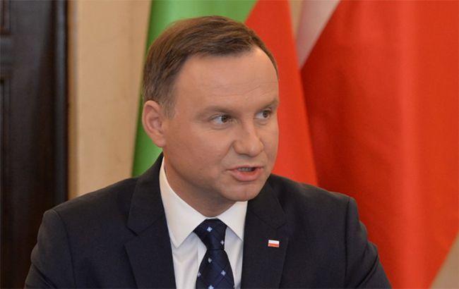 Фото: президент Польщі Анджей Дуда (twitter.com/andriyparubiy)