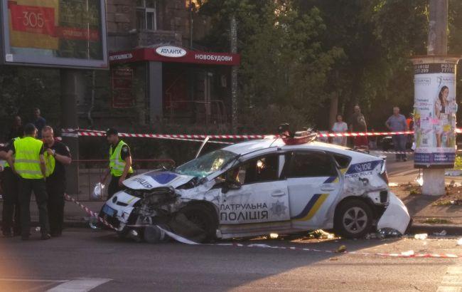В Одесі автомобіль патрульної поліції потрапив у ДТП: є постраждалі