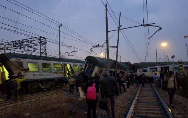 ВМилане поезд сошел срельс: 110 раненых, 2 погибших