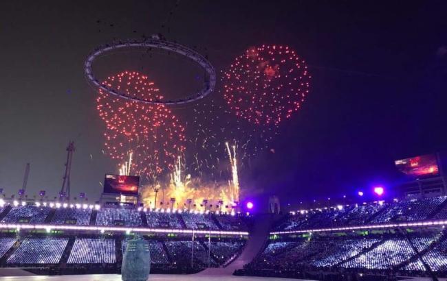 Фото: церемония открытия Олимпиады-2018 (twitter.com/Olympics)