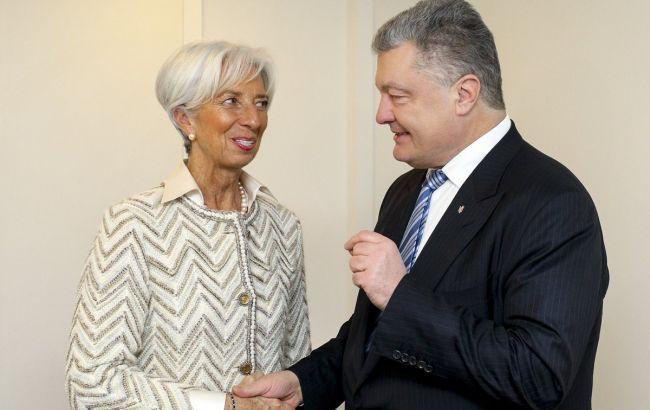 Порошенко и Лагард обсудили сотрудничество Украины с МВФ