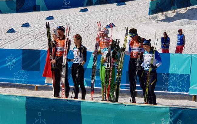 Фото: победители в спринте лыжных гонок на 1,5 км (twitter.com/ParaNordic)