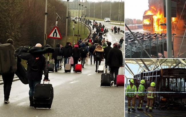 У Британії через пожежу в аеропорту скасовано майже 100 авіарейсів Ryanair та EasyJet