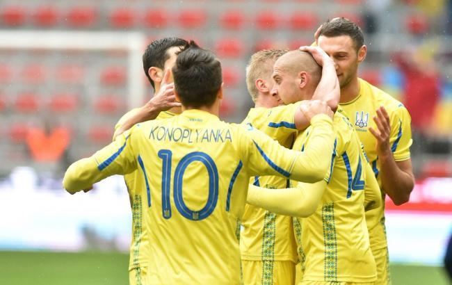 Сборная Украины поднялась на пять позиций в рейтинге ФИФА