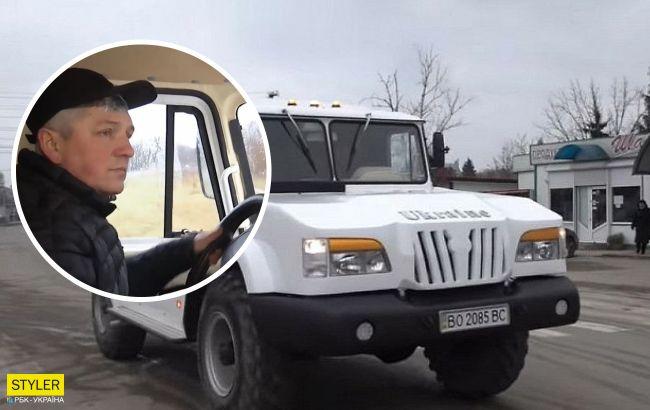 """В Тернополе создали уникальный внедорожник """"Украина"""": поражает своими размерами"""