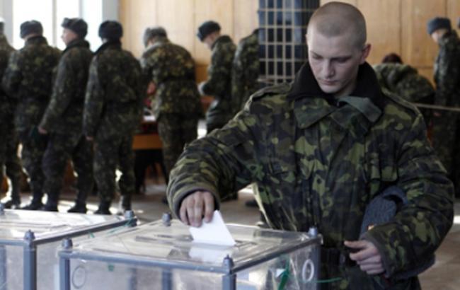 На выборах Рады явка военнослужащих-срочников на 15:00 составляет 75%