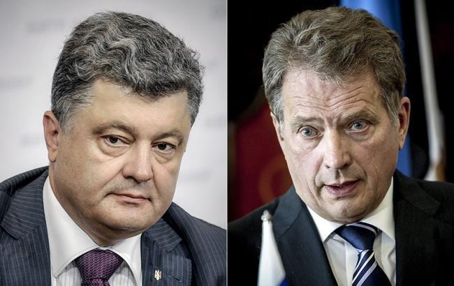 Фото: Петро Порошенко та Саулі Нііністьо (president.gov.ua)