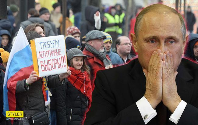 Знаменитую нецензурную песню про Путина спели в центре Москвы